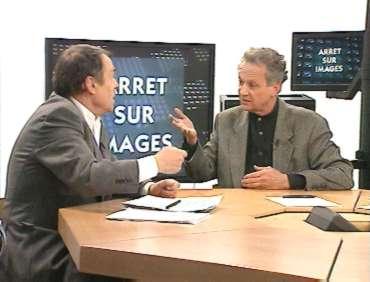 Pierre Bourdieu et Jean-Marie Cavada dans Arrêt sur images